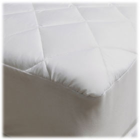 100% Polyester Microfiber Luxury Quilted Fitted Mattress Pads