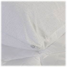 Soft Terry Zippered Pillow Protectors Lodgmate Bedding