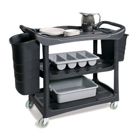 3 Shelf Service Cart & Optional Bins