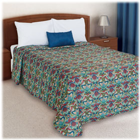 Trevira Quilted Polyester Bedspread Bali