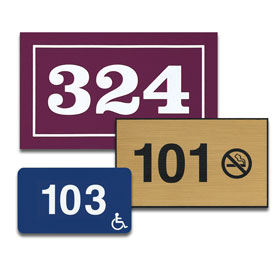 Rectangular Door Number Signs
