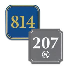 Square Door Number Signs