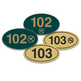 Oval Door Number Signs