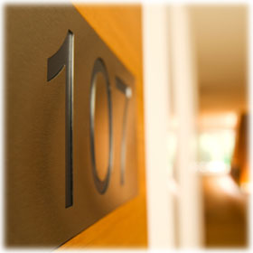 Hotel Door Number Signs
