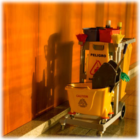 Hotel Janitorial Cleaning Carts