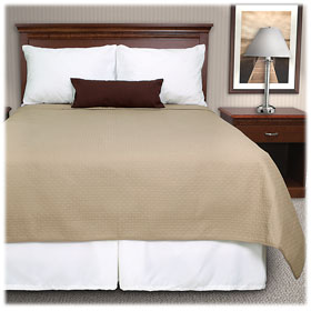 Cathedral Square  Reversible Pinsonic Quilted Coverlets