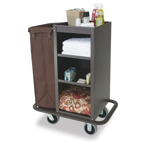Deluxe Compact Metal Housekeeping Cart