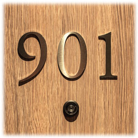 Brass & Zinc Door Numbers