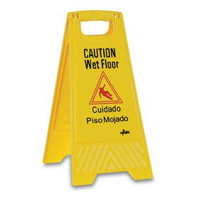 Economy Caution Wet Floor Sign