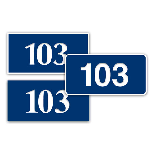 """1.5"""" x 3"""" In/Outdoor Door Number Sign"""
