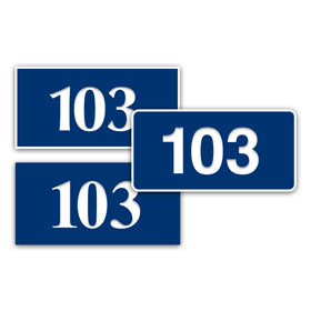 "1.5"" x 3"" In/Outdoor Door Number Sign"