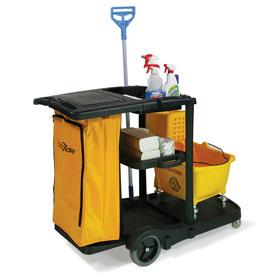 Janitor Cart w/ Lid and Zipper Bag