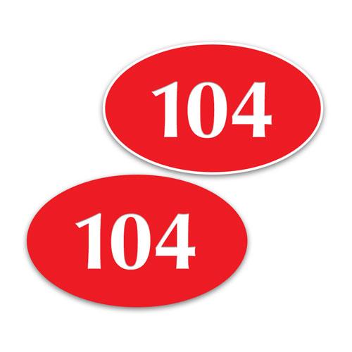 """3"""" x 5"""" Oval In/Outdoor Door Number Sign"""