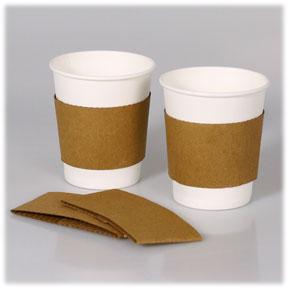 Kraft Coffee Cup Sleeves For 8-16 Oz -1000/cs.