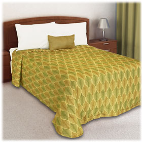 Trevira Quilted Polyester Bedspread Leaves