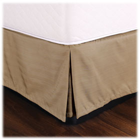Hotel Weighted Coordinating Bed Skirts 100% Polyester