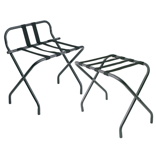 Matte Black Hotel Luggage Rack Collection