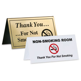 Non-Smoking Tent Signage