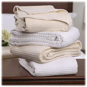 Santa Barbara Waffle Weave Cotton Thermal Blankets