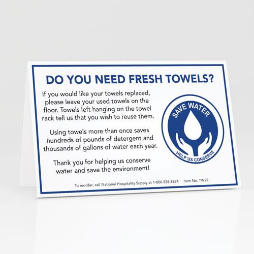 Fresh Towels? Table Tents 100/pk.