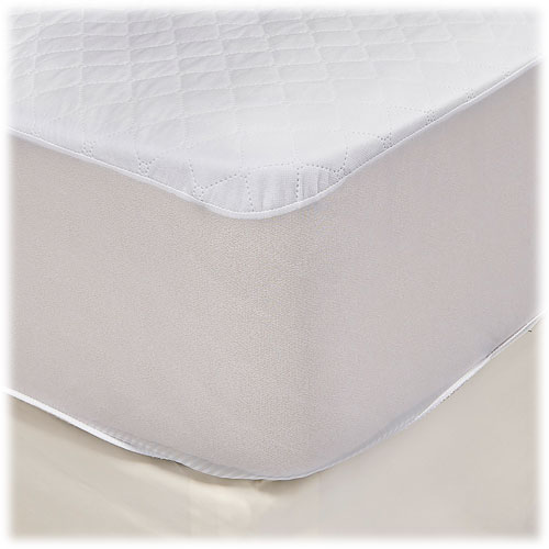 Ultra Dry Waterproof Quilted Mattress Pads w/Flexwall Fitted Style