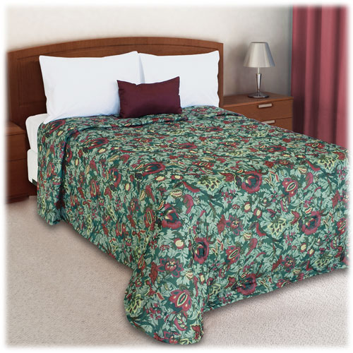 Trevira Quilted Polyester Bedspread Seasons Green