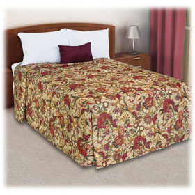 Trevira Quilted Polyester Fitted Style Bedspreads Seasons Tan