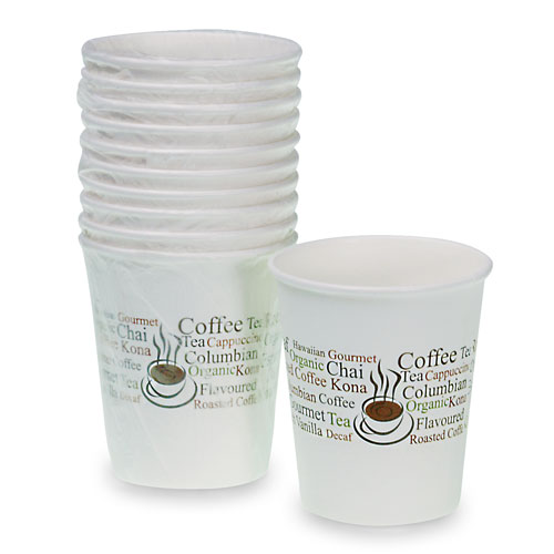 Hot Paper Cups 9 oz  Wrapped 1000/cs